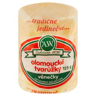 A.W. Olomouc Ripened Cheese Fat Free Wreaths 125g