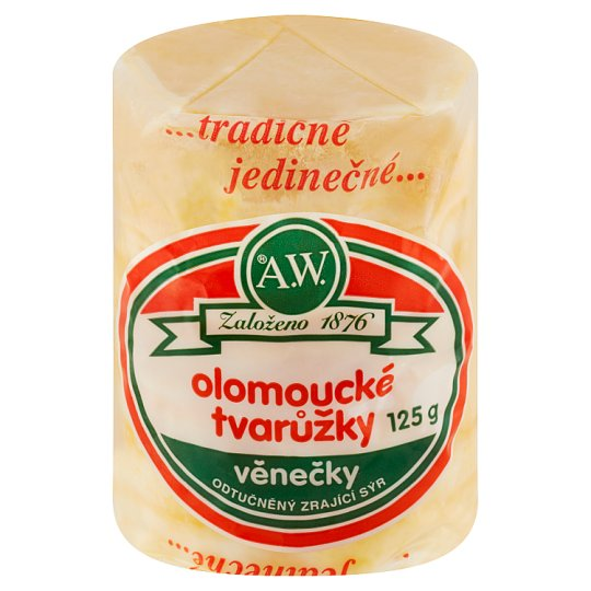A.W. Olomouc Ripened Cheese Fat Free Wreaths 125g