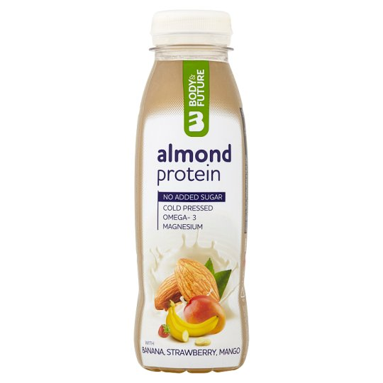 Body&Future Lactose-free Almond Milk Protein and Banana, Strawberry and Mango Puree 330ml