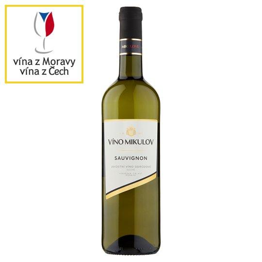 Víno Mikulov Sauvignon jakostní odrůdové suché bílé víno 0,75l