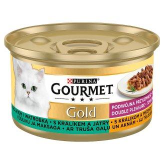 GOURMET Gold Double Pleasure s králíkem a játry 85g