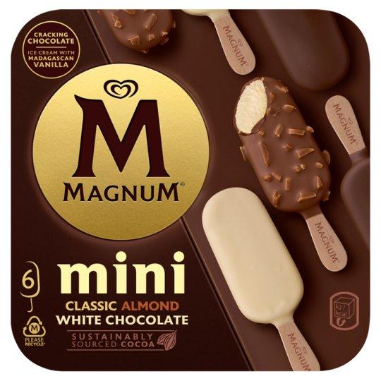 Magnum Mini Classic, Almond, White 6 x 55ml