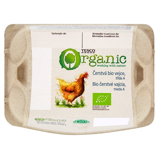 Tesco Organic Čerstvá bio vejce M 6 ks
