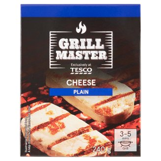 Tesco Grill Natural Full Fat Cheese 240g