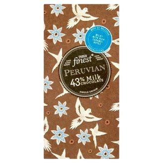 Tesco Finest Peruvian 43% mléčná čokoláda 100g