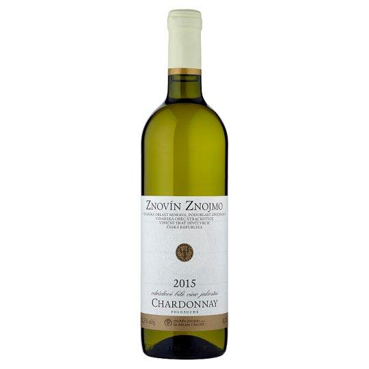 Znovín Znojmo Chardonnay odrůdové bílé víno jakostní polosuché 0,75l