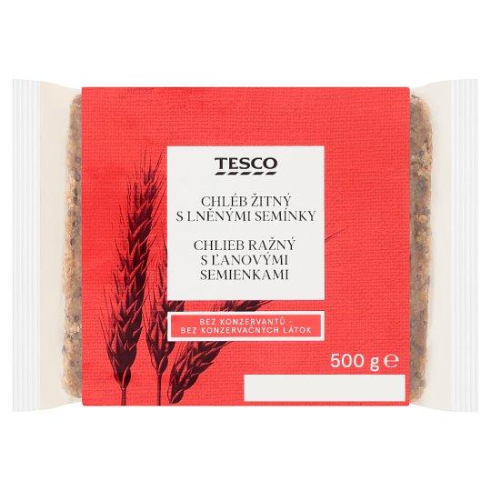 Tesco Rye Bread with Flax Seeds 500g