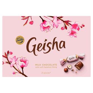 Fazer Geisha Mléčné čokoládové bonbony s náplní z lískových oříšků a nugátu 150g