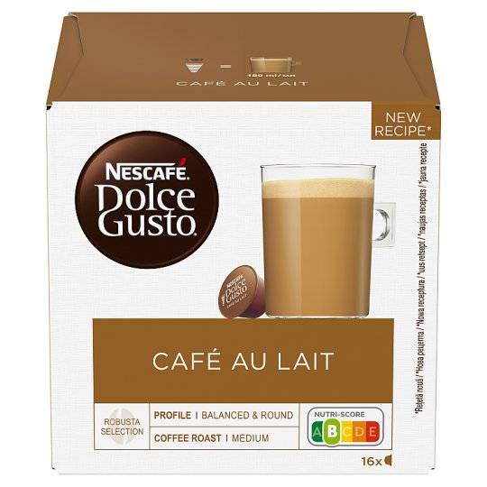 NESCAFÉ® Dolce Gusto® Café au Lait - Coffee Capsules - 16 Capsules in a Pack