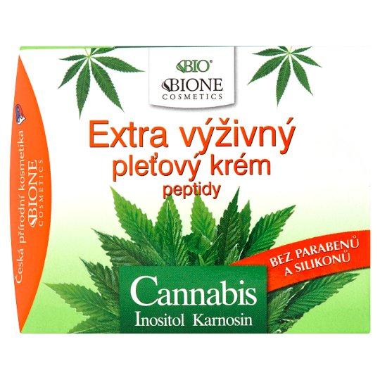 Bione Cosmetics Bio Cannabis inositol karnosin extra výživný pleťový krém peptidy 51ml
