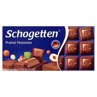 Schogetten Nugát mléčná čokoláda 100g