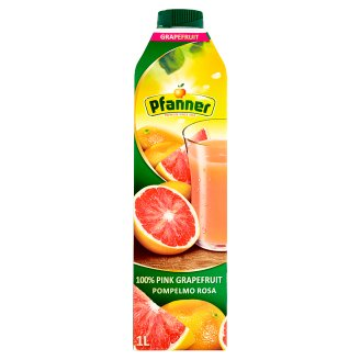Pfanner 100% šťáva z růžového grapefruitu 1l