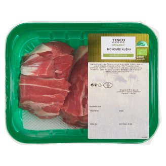 Tesco Organic Bio hovězí kližka