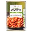 Tesco Organic Dušené fazole v rajčatové omáčce 420g