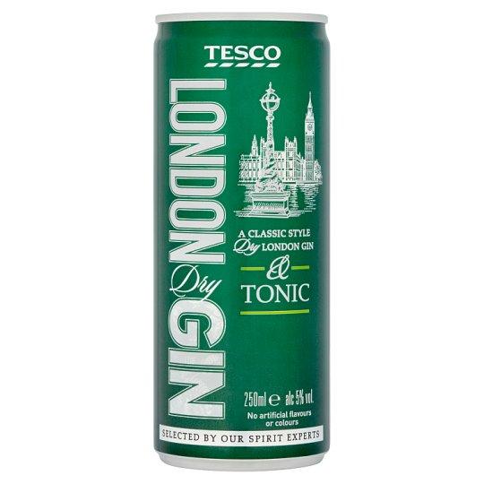 Tesco London Dry Gin & Tonic 250ml
