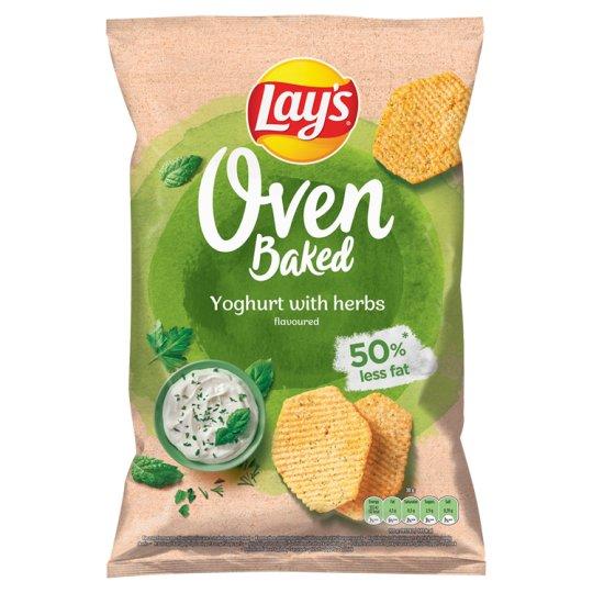 Lay's Oven Baked Pečené bramborové lupínky tvarované s příchutí jogurtu a bylinek 125g