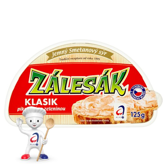 Zálesák Classic Spicy Cream Cheese with Vegetables 125g