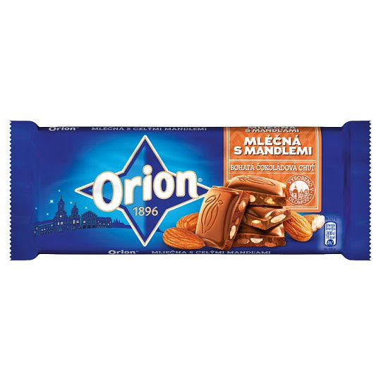 ORION Milk Chocolate with Almonds 90g