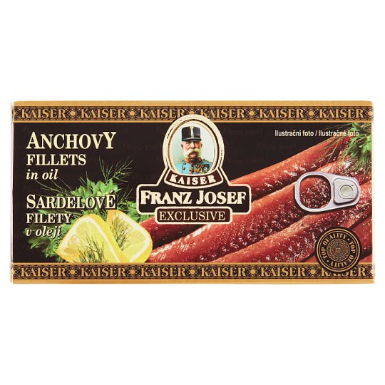 Kaiser Franz Josef Exclusive Sardelové filety v oleji 45g