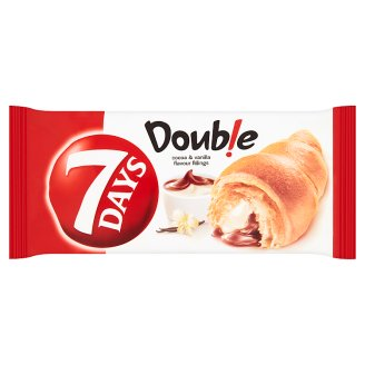 7 Days Double Croissant with Cocoa and Vanilla Flavour Fillings 60g