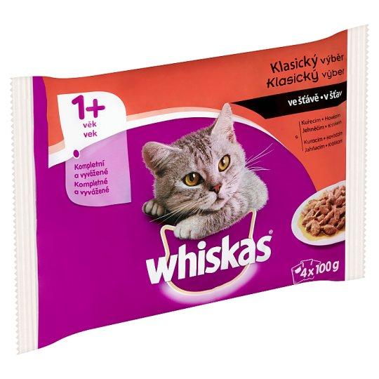 Whiskas Drůbeží výběr v želé kompletní krmivo pro dospělé kočky 4 x 100g