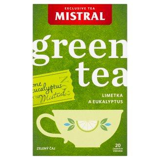 Mistral Zelený čaj s eukalyptovými listy s limetkovou příchutí 20 x 1,5g