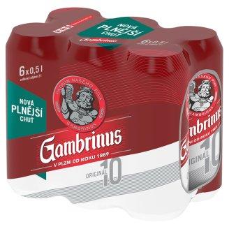 Gambrinus Originál 10 pivo výčepní světlé 6 x 500ml