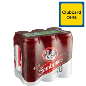 Gambrinus Original 10 Light Draft Beer 6 x 500ml