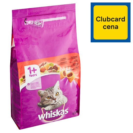 Whiskas Complete Food for Adult Cats with Beef 1.4kg