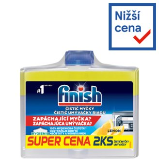 Finish Lemon Dishwasher Cleaner 2 x 250ml