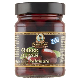 Kaiser Franz Josef Exclusive Greek Kalamata Black Olives in Brine 250g