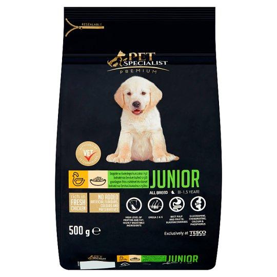 Tesco Pet Specialist Premium Junior bohaté na čerstvé kuřecí s rýží 500g