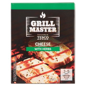 Tesco Grill Full Fat Cheese with Herbs 240g