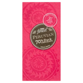 Tesco Finest Peruvian 70% hořká čokoláda 100g