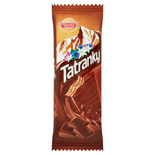 Sedita Tatranky Wafers with Cream Filling with Chocolate in Milk-Cocoa Topping 30g