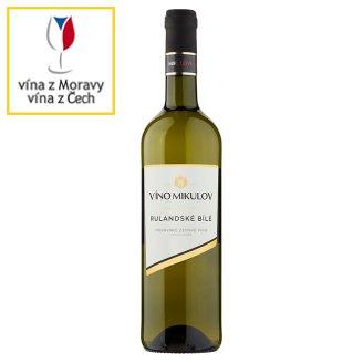 Víno Mikulov Rulandské bílé jakostní odrůdové suché bílé víno 0,75l