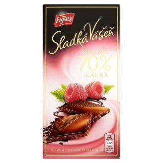 Figaro Sladká Vášeň Malina hořká čokoláda 70 % kakaa 100g