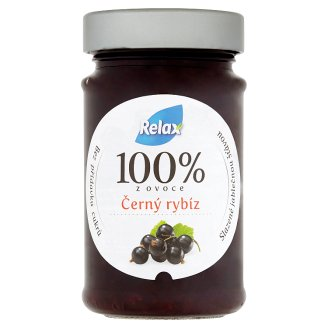 Relax 100% z ovoce černý rybíz 220g
