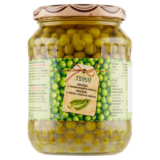 Tesco Peas in Sweet-Salt Brine 700g