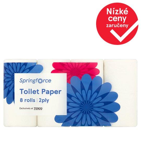 Springforce Toaletní papír 2-vrstvý 8 rolí