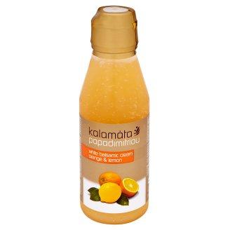 Papadimitriou Kalamata Bílý balsamicový krém s příchutí pomeranče a citrónu 250ml