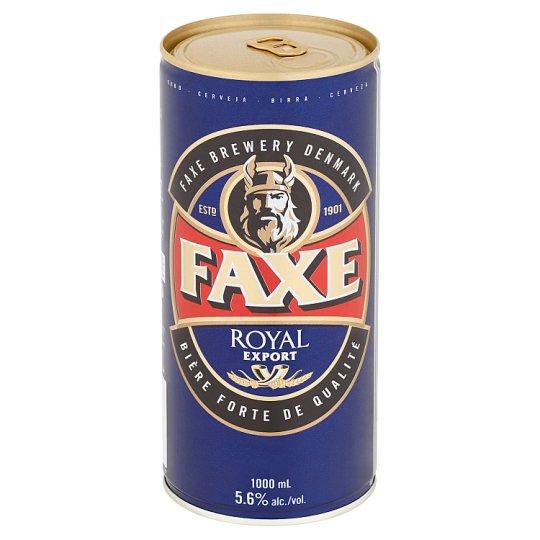 Faxe Royal Export pivo světlý ležák 1000ml