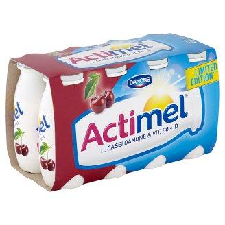 Danone Actimel Jogurtové mléko s vitamíny B6 a D - višeň a acerola 8 x 100g