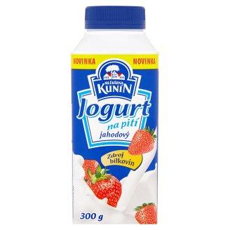 Mlékárna Kunín Jogurt na pití jahodový 300g