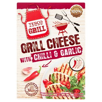Tesco Grill Full Fat Cheese with Chili Peppers and Garlic 240g