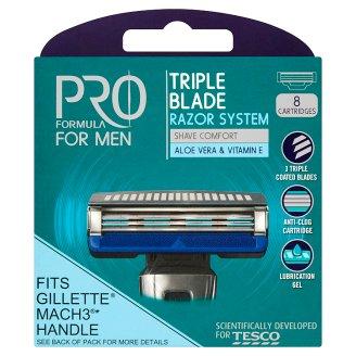 Tesco Pro Formula For Men Right Fit 3 náhradní hlavice 8 ks