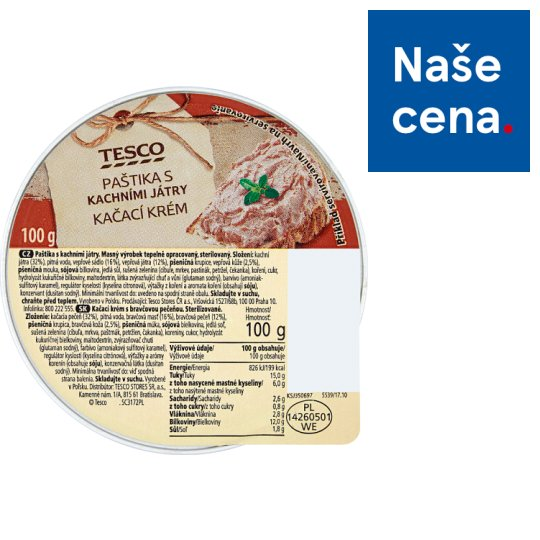 Tesco Pate with Duck Kidneys 100g
