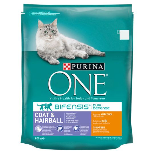 Purina ONE Coat & Hairball Rich in Chicken and Whole Grain 800g