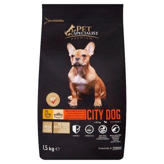 Tesco Pet Specialist City Dog bohaté na čerstvé kuřecí s rýží 1,5kg