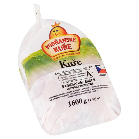 Vodňanské Kuře Chicken with Giblets without Heart 1600g
